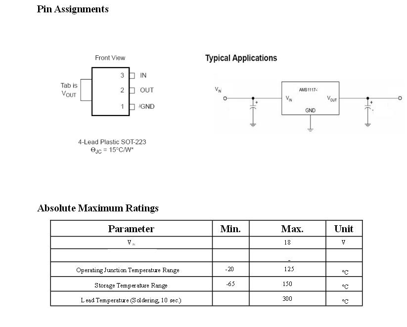 10X AMS1117-5.0 Regolatore Stabilizzatore di tensione 5V 1A Low Dropout