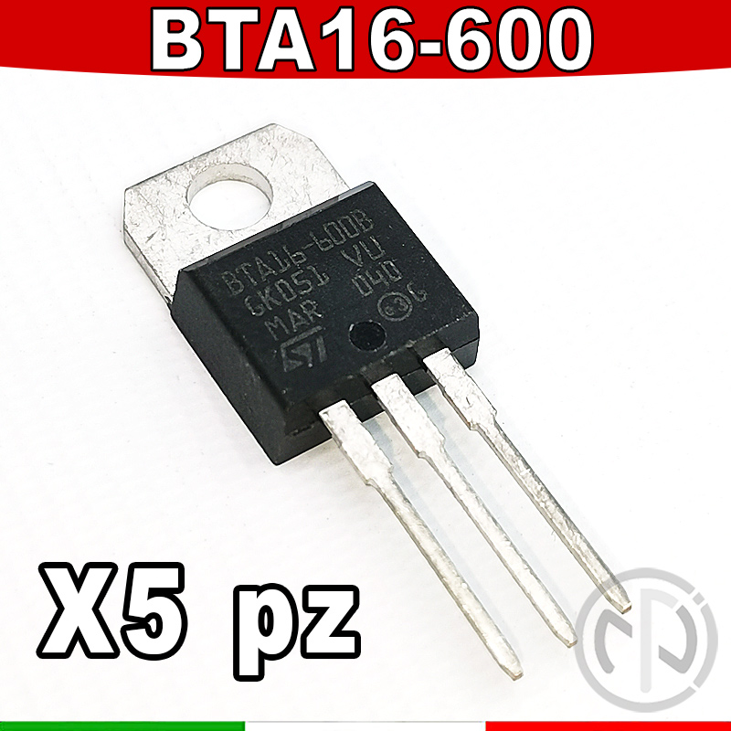 BTA316X-600B Triac 600V 16A 50mA Verpackung Tube THT TO220FP BTA316X-600B.127