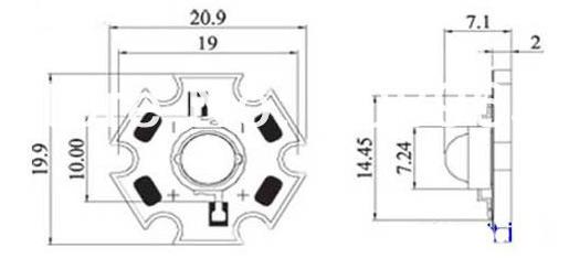 LED 3W Cool White BIANCO FREDDO 10000-15000K° 180lm Power Led 700mA 10 Pezzi