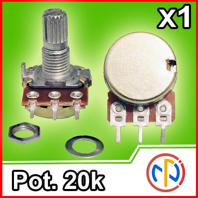 Potenziometro 20K lineare 15mm Potentiometer